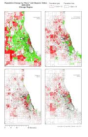 University Of Chicago Map by Change In Population By