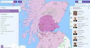 map of scotland and constituency maps msps scottish parliament