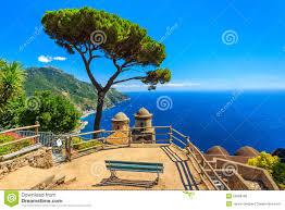 the famous garden of villa rufolo ravello amalfi coast italy stock