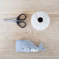 handmade felt whale ornament decorative felt animal ornament