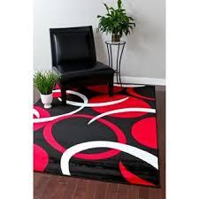 Red White Black Rug Persian Rugs Modern Trendz Collection Grey Rug 7 U002710 X 10 U00276