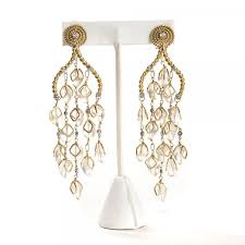 gold chandelier earrings jemznjewels kara ross jewelry kara ross moonstone 18k gold