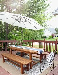 Patio Furniture On A Budget A Layered Outdoor Dining Space On A Budget Chris Loves Julia