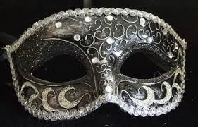 new orleans masquerade masks crescent black silver venetian mask mardi masquerade