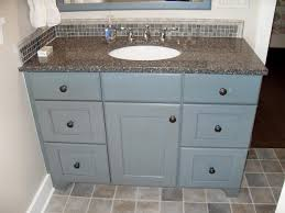 style bathroom vanity with blue painted finish the soft gray blue