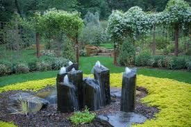nice landscape water fountains glorious outdoor rock water