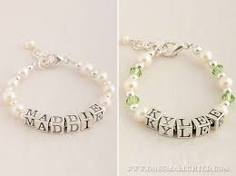 Baby Name Bracelets Baby Name Bracelets One Small Child Baby Jewelrybaby Name