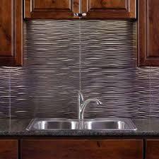 Metallic Kitchen Backsplash by Backsplashes Countertops U0026 Backsplashes The Home Depot