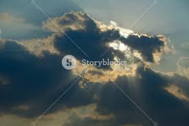 clouds with sunrays royalty free stock image storyblocks