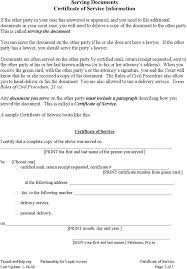 sample certificate of service template certificate of