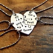 puzzle love necklace images All the way past heaven five piece puzzle heart necklace set jpeg
