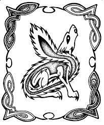 celtic wolf by sladeside on deviantart
