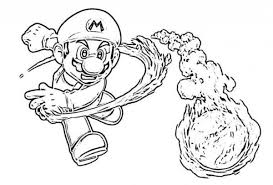 wii super mario galaxy 2 coloring pages boys coloring pages