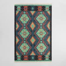 Kilim Indoor Outdoor Rug Multicolor Kilim Woven Darra Indoor Outdoor Rug World Market