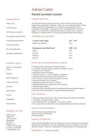 Example Of Personal Resume by Dental Assistant Student Resume Objective Also Give A Good