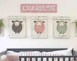Sheep Nursery Decor Sheep Nursery Etsy