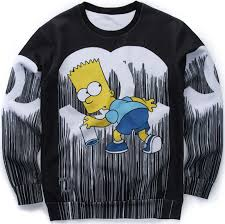 bart sweater bart simpsons sleeve 3d wear sweater wesellanything co