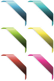 corner ribbons vector design elements