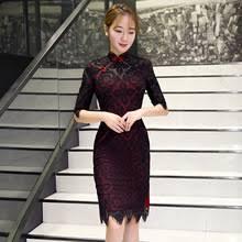 online get cheap black cheongsam lace dress aliexpress com