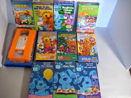 blues clues with steve bear in the big blue house lot of 11 vhs