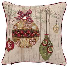 Ornamental Christmas Pillow  Contemporary  Decorative Pillows  by