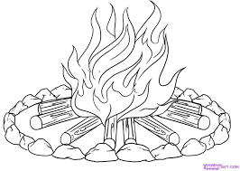 campfire coloring pages getcoloringpages com