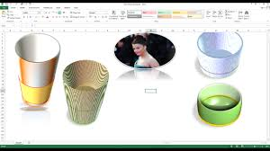 how to create 3d design in excel worksheet how to make 3d shapes