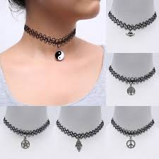 choker necklace diy images Black handmade hot selling vintage stretch tattoo choker necklace jpg