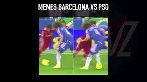 David Luiz Meme - david luiz barcelona vs psg memes youtube
