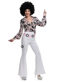 Halloween Costumes Disco Women U0027s White Disco Pants