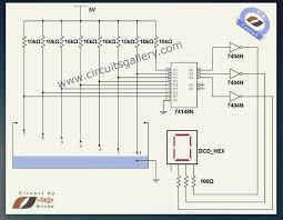 numeric water level indicator liquid level sensor circuit diagram