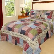 somerset home printed quilt bedding set walmart