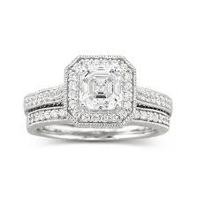 Sterling Silver Wedding Ring Sets by Diamonart Sterling Silver Cubic Zirconia Bridal Ring Set Jcpenney