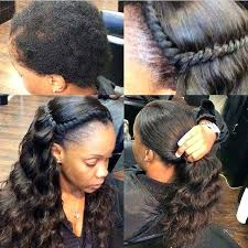 curly black hair sew in unique sew in weave hairstyles with side bangs curly weave