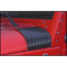 black jeep 4 door jeep parts buy drake off road cowl covers louvered in black for