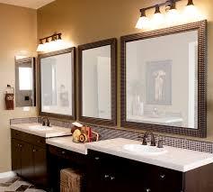 how to frame mirror in bathroom stylish framed bathroom mirrors wallowaoregon com