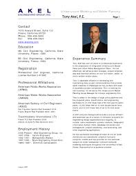Sample Model Resume by Model Resume For Civil Engineer Resume For Your Job Application