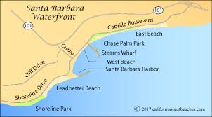 santa barbara california map east and directions