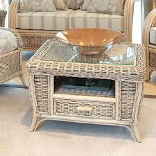 pebble outdoor coffee table cane conservatory coffee table cane small table candle and blue