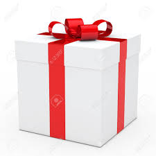 Christmas Gift Boxes Large Christmas White Gift Box With Red Ribbon Stock Photo Picture And