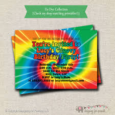 free rainbow birthday invitations rainbow tie dye birthday party invitation 60s 70s hippy
