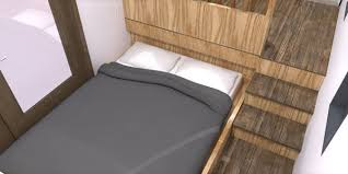 athru tiny house plans bed slides out from underneath the kitchen