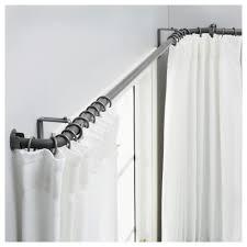 ikea curtain rods hugad curtain rod combination bay window ikea