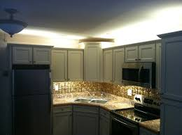 above cabinet accent lighting above cabinet lighting ideas