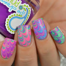 46 best water marble nail art images on pinterest water marble