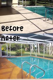 concrete stained pool deck sarasota fl by klein paint works