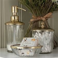Clear Bathroom Accessories by Clear Glass Lotion Dispenser In Silver Or Gold Jodie Byrne