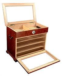 amazon com 400 ct burl wood cigar humidor cabinet end table