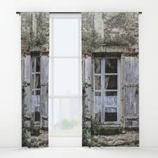 Old Curtains Cracked Window Curtains Society6