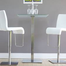 glass pub table and chairs mix jenna square crackle glass pub table walmart com